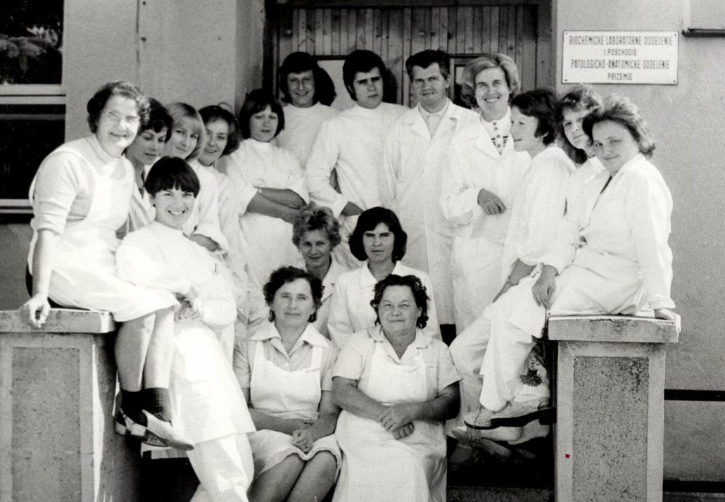 vybudovaná nová hospodárska budova, budova oddelenia klinickej biochémie a patológie, zároveň bolo vytvorené nové patologické oddelenie (1952)