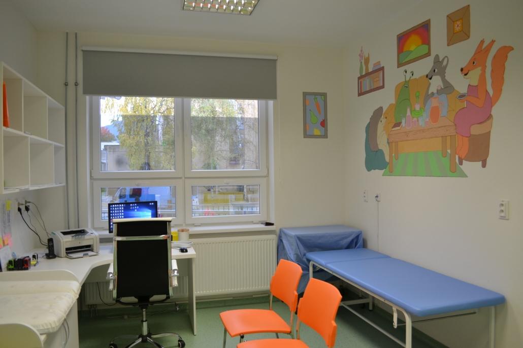 všeobecná ambulancia pre deti a dorast sa presťahovala do nových priestorov v pavilóne J